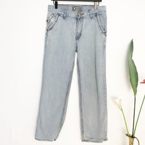 Vintage VERSACE Couture High Rise Light Wash Jeans